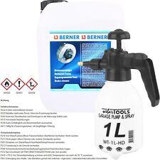 5L BERNER BREMSENREINIGER TEILE REINIGER BRAKE CLEANER + PUMPSPRÜHFLASCHE 1.0L