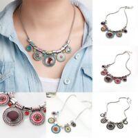 Fashion Women Geometry Charm Pendant Necklace Bib Statement Choker Collar Chunky