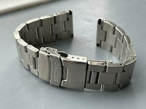 20MM SEIKO Oyester Stainless Steel Mens Watch STRAP FLAT LUGS.
