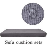 Stretch Sofa Cushion Cover Furniture Protector Reversible  Removable Slipcover