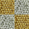 Wholesale Silver/Gold Plated Round Brass Spacer Beads 4mm,6mm,8mm,10mm