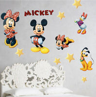 Mickey Minnie Mouse Pluto Daphne Removable Sticker Wall Decal Set for Kid Rooms