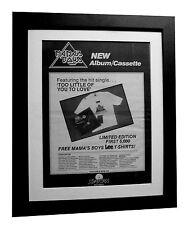 MAMA'S BOYS+Turn It Up+POSTER+AD+RARE ORIGINAL 1983+FRAMED+EXPRESS GLOBAL SHIP