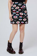 Dangerfield  All Seeing Eye Skirt in Black, Gold