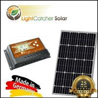 100 Watt Mono Solar Panel Kit with Charge Controller 100W 12V RV Off Grid German