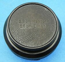 Leica Dark-Brown Bakelite Case for SM 2.8cm f2.8 Hektor,3.5cm f3.5 Elmar  #2
