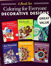 Coloring For Everyone Decorative Designs 6 Book Set