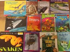 Lot of 10 Science Nature Experiment Geographic Animal Educate Children Books MIX