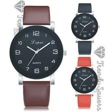 Women's Lady Leather-Strap Casual Analogue Stainless Steel Quartz Wrist Watches