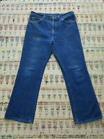 Men's vintage Lee riders 70s 80s Size 34x29. Dark raw union denim jeans pants.