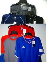 Adidas Mens Athletic Shirt M L XL 2XL Blue Gray Black NEW