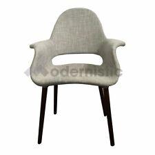 [M] Eames/Saarinen Organic Dining Armchair Replica Designer Scandinavian Grey