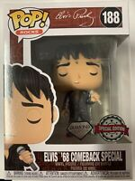 FUNKO POP ELVIS 68 COMEBACK SPECIAL #188 DIAMOND SPECIAL EDITION EXCLUSIVE