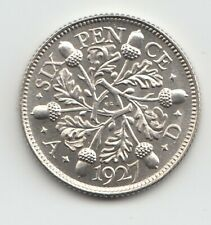 More details for very rare george v 1927 proof silver sixpence 6d