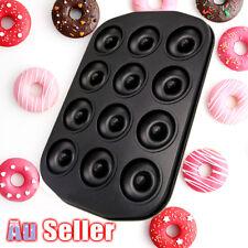 12 Cups Cute Mini Donut Maker Cake Baking Mould Doughnut Dough Tray Donut Pan