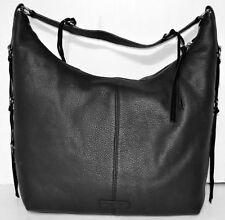 Lucky BRAND Jill Hobo Shoulder Bag Genuine Leather Black f927a23f5a