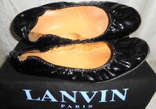 LANVIN Black Patent Ballet Flats 39 8.5 $495