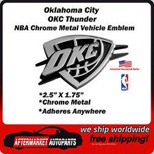 Oklahoma City Thunder OKC NBA Chrome Metal Car Auto Emblem Team Decal Logo