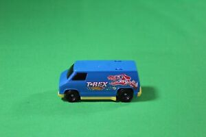 2020 Burger King Hot Wheels T-Rex Blue & Yellow Van Plastic Kids Meal Toy 3""