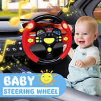 Baby Educational Steering Wheel Musical Lighting Toys Children Learning Play