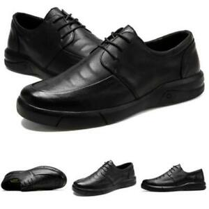 Mens Faux Leather Business Leisure Shoes Round Toe Oxfords Walking Sports Work L