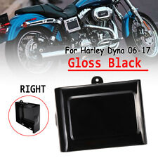 Motor Black Right Side Battery Cover For Harley Dyna Street Bob FXWG Super Glide