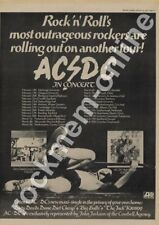 AC/DC Dirty Deeds Done Cheap Portsmouth Locarno LP Tour Advert 1977
