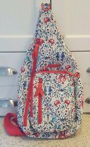 VERA BRADLEY Sea Life Iconic Sling Backpack EUC