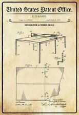 US Patent Tischtennis Tisch Tennis Table 1935 Blechschild Tin Sign 20 x 30 cm