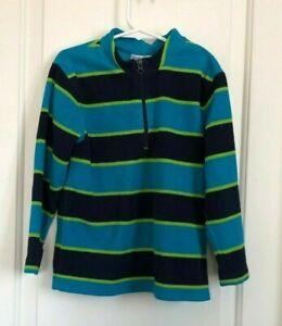 Hanna Andersson boys 110 5-6 multi color stripe long sleeve fleece