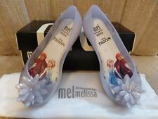 New listing Mini Melissa x Frozen Ultragirl Pearl White Glitter Size 11
