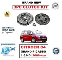 BRAND NEW 3 PIECE CLUTCH KIT for CITROEN C4 GRAND PICASSO 1.6 HDi 2006->on