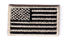 "American Flag Black And Tan Small(1 1/2"" x 7/8"") Usa Patriotic Iron On Patch"