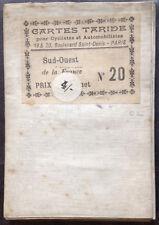 Carte Taride N°20 - Sud-Ouest [Bordeaux - Toulouse] Cartographe : P. Bineteau