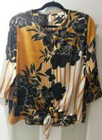 River Island Womens Satin Floral Blouse Top Size 12