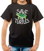 Save The Turtles - Kids T-Shirt - Eco - Earth - Planet - Sea - Ocean - Animal