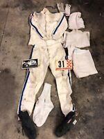 Vintage 1960s Auto World Racing Uniform Drag Racing Nomex Raced In Phil Bonner?