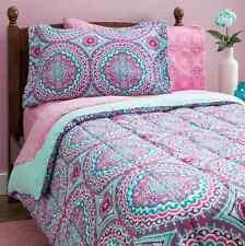 Bedding Sets Twin for Teens Girls Kids Comforter Pink Mint Green Dorm Sheets 8PC