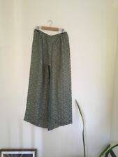 Green Floral Silk Tailored Trousers