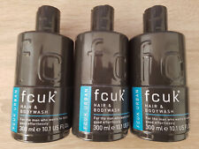 5c930e95074 3x FCUK Urban Hair and Body Wash 300ml Shower GEL for Men Shampoo Foam Soap