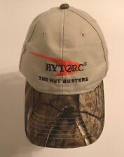 HYTORC The NUT BUSTERS Khaki CamoTruckesr Hat Baseball Cap Strapback VG Cond.