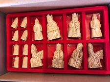 """ISLE OF LEWIS CHESS MEN HAND CAST COLLECTORS/' SET rosewood 706 new K= 3.5/"""""""