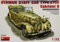 MiniArt 1:35 German Staff Car Type 170V Cabriolet B WWII Model Kit #35107U