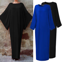 ZANZEA Women's Batwing Long Maxi Dress Oversize Ethnic Full Length Shirt Dress