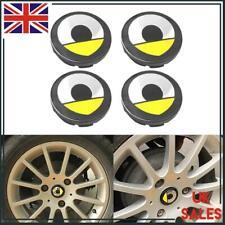 4pc Cubo de rueda centro tapa 60mm amarillo emblema logotipo inteligente para Smart Forfour Fortwo