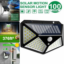 100 Led Solar Powered Light Outdoor Motion Sensor Wall Yard Spa Garden Lamps