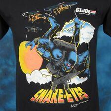 vintage 1991 G.I. JOE SNAKE-EYES HASBRO T-Shirt XS cartoon tv toy soft thin 80s