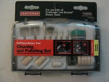 NEW CRAFTSMAN 24 PIECE ROTARY TOOL CLEANING & POLISHING SET #23660