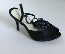Women's Black Menbur White and Black Lace Satin Shoes Size 41