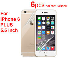 6X Ultra Clear Screen Protector Guard Film (3Front and 3Back) for iPhone 6 Plus